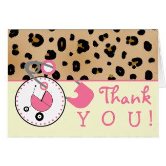 Cartão Obrigado do chá de fraldas você - Pin do impressão