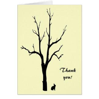 Cartão Obrigado do coelho você