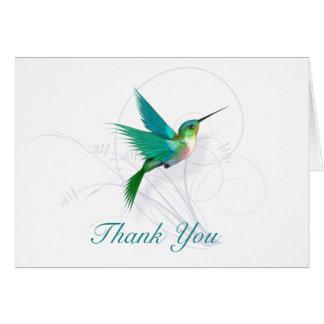 Cartão Obrigado do colibri você