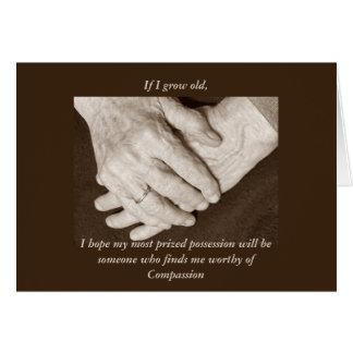 Cartão Obrigado do cuidador você para um homem