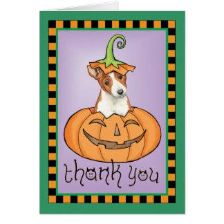 Cartão Obrigado do Dia das Bruxas Basenji você