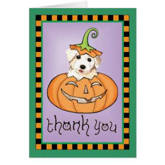 Cartão Obrigado do Dia das Bruxas Bichon você
