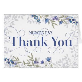 Cartão Obrigado do dia das enfermeiras você - texto e
