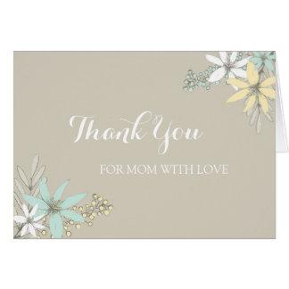 Cartão Obrigado do dia do casamento da mamã você