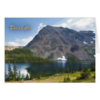 Cartão Obrigado do esplendor da montanha você