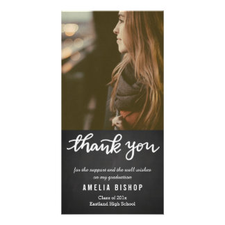 Cartão Obrigado do formando do quadro você tipografia