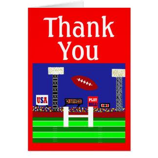 Cartão Obrigado do futebol de 2013 esportes dos miúdos