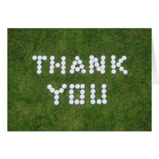 Cartão Obrigado do golfe você