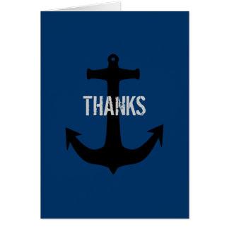 Cartão Obrigado do homem dos azuis marinhos o melhor você