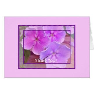 Cartão Obrigado do jardim w/blank para dentro