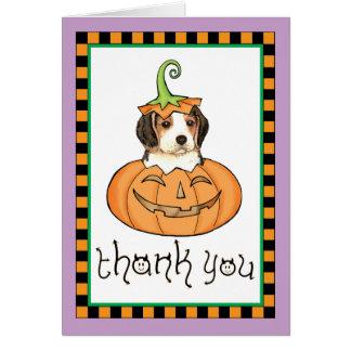 Cartão Obrigado do lebreiro do Dia das Bruxas você