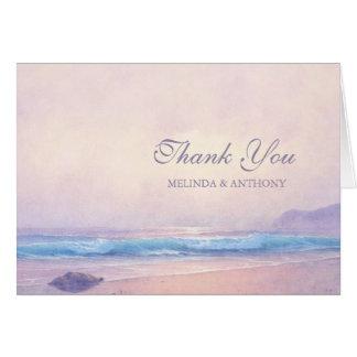 Cartão Obrigado do mar do verão você