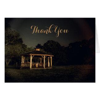 Cartão Obrigado do miradouro da noite você