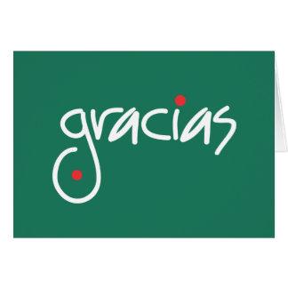 Cartão Obrigado do Natal de Gracias você em alguma língua