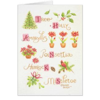 Cartão Obrigado do Natal você prazeres da natureza do