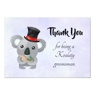 Cartão Obrigado do padrinho de casamento você com chalaça