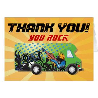 Cartão Obrigado do partido do caminhão do jogo você