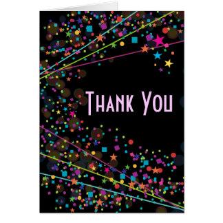 Cartão Obrigado do partido do clube do doce 16 das luzes