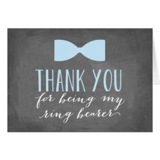 Cartão Obrigado do portador de anel você padrinho de