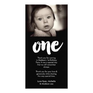 Cartão Obrigado do primeiro aniversario do bebê dos bebês