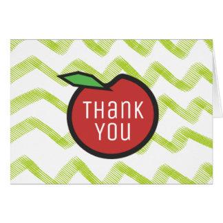 Cartão Obrigado do professor você Apple vermelho