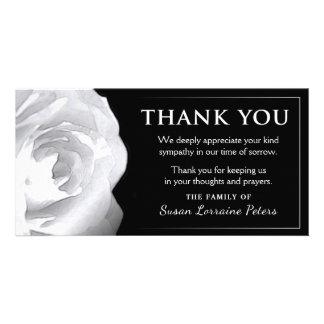 Cartão Obrigado do rosa branco você simpatia da família