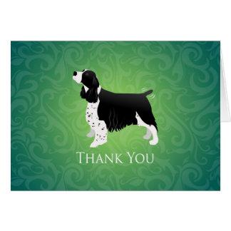 Cartão Obrigado do Spaniel de Springer inglês você