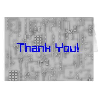 Cartão Obrigado do suporte técnico você!