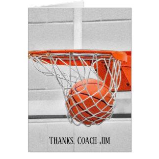 Cartão Obrigado do treinador de beisebol você