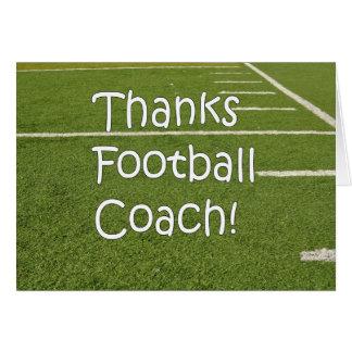 Cartão Obrigado do treinador de futebol você obrigados no