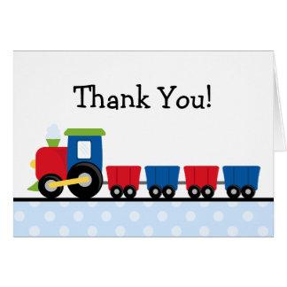 Cartão Obrigado do trem das bolinhas você