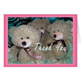 Cartão Obrigado do urso de ursinho você personaliza toda
