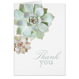 Cartão Obrigado do vazio da graduação do Succulent você