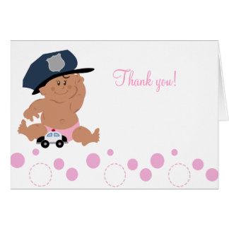 Cartão Obrigado dobrado bobina do agente da polícia do
