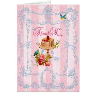 Cartão Obrigado doces