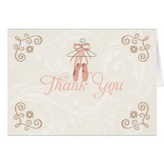 Cartão Obrigado dos calçados da bailarina você Notecards