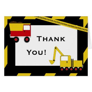 Cartão Obrigado dos caminhões da construção do KRW você