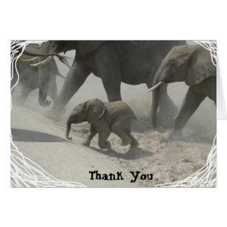 Cartão Obrigado -   elefante africano