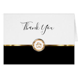 Cartão Obrigado elegante do corretor de imóveis você