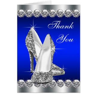 Cartão Obrigado elegante dos calçados do salto alto dos