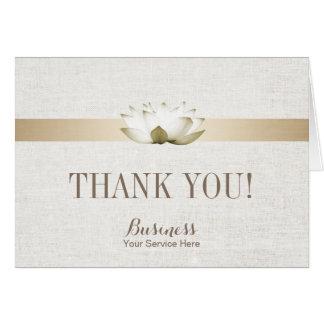 Cartão Obrigado elegante dos TERMAS do salão de beleza de
