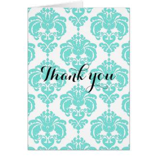 Cartão Obrigado elegante moderno chique da cerceta & do