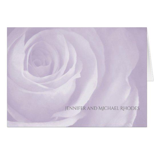 Cartão obrigado elegante simples do casamento do rosa da