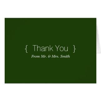 Cartão Obrigado elegante simples personalizado você
