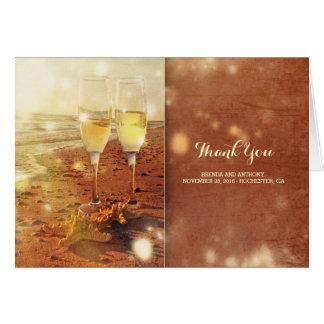 Cartão obrigado encalhar o casamento da celebração