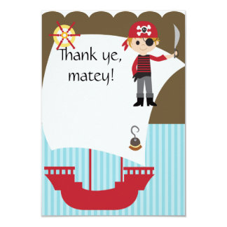 Cartão Obrigado esclarecido feito sob encomenda do pirata