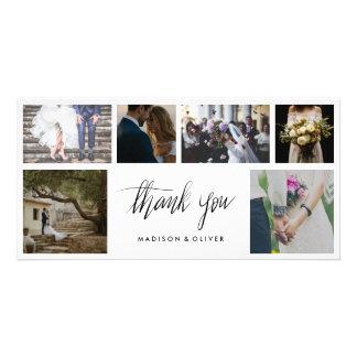 Cartão Obrigado escrito à mão do casamento você seis
