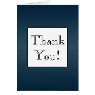 Cartão Obrigado escuro de Ombre dos azuis marinhos você