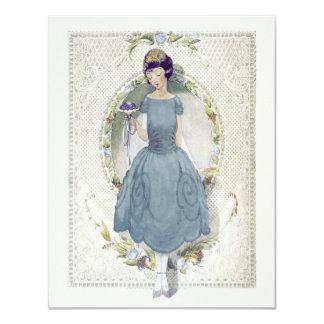Cartão Obrigado estando em nosso vintage do casamento