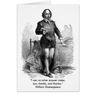 Cartão Obrigado, estilo de Shakespeare!